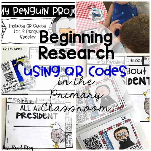 Beginning research in the primary grades using QR codes!