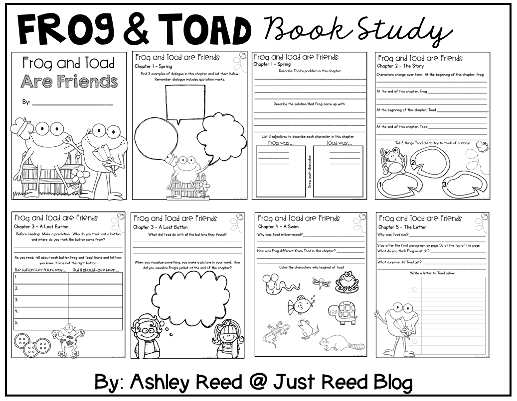 This study of Arnold Lobel books is perfect for first or second graders. EAch reading journal is chock full of comprehension and skills practice!