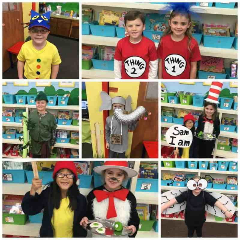 Costume ideas for a character parade, storybook ball, or Read Across America for Dr. Seuss's birthday!
