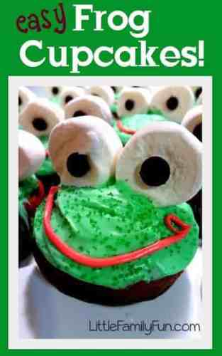 Frog cupcakes are so easy and fun to make