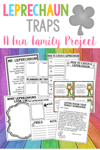 Leprechaun traps are a fun family project that's perfect for St. Patrick's Day STEM.