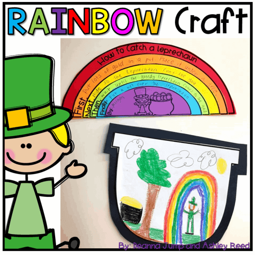 How to Catch a Leprechaun Rainbow Writing Craft for St. Patrick's Day