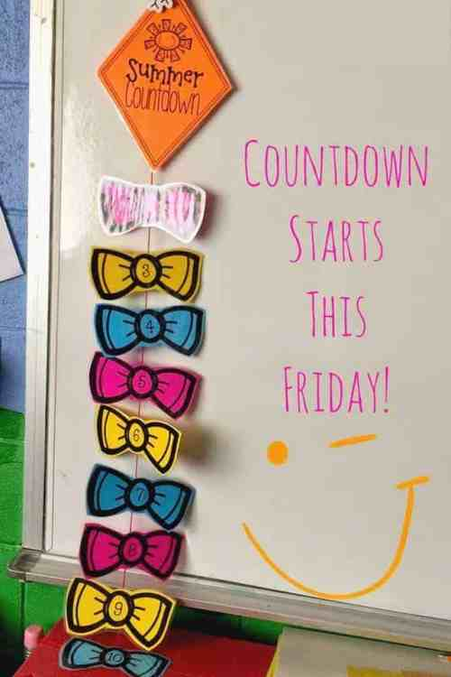 This FREE countdown kite is a great visual for counting down the last 10 days of school!