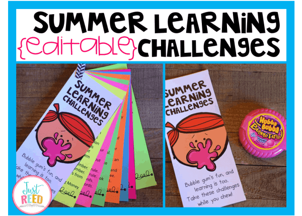 These summer learning challenges are editable and will help stud3nt retain what they've learned.