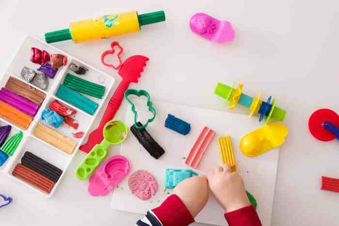 Play Doh and Modeling Clay are perfect for fine motor development in preschool children.