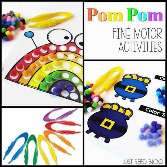 Pom Pom Fine Motor activities for preschoolers.