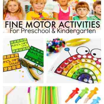 Developing Fine Motor Skills in Preschool and Kindergarten