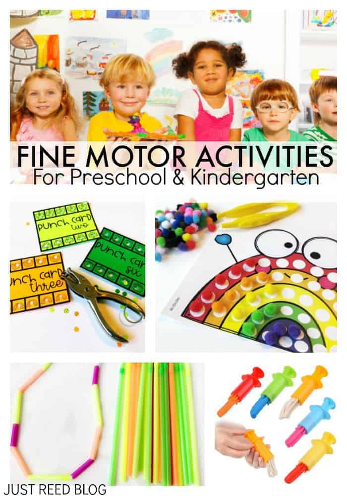 Fine motor activities for preschool and kindergarten