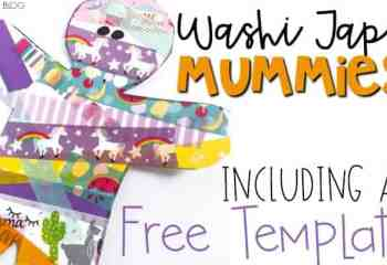 Washi Tape Mummy Craft for Fine Motor Practice