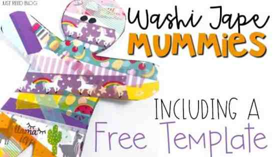 Washi tape mummies make the perfect fine motor Halloween craft.