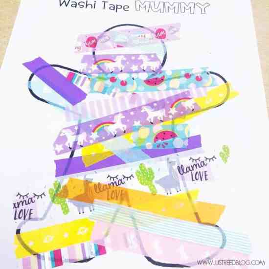 Washi Tape Mummy Craft