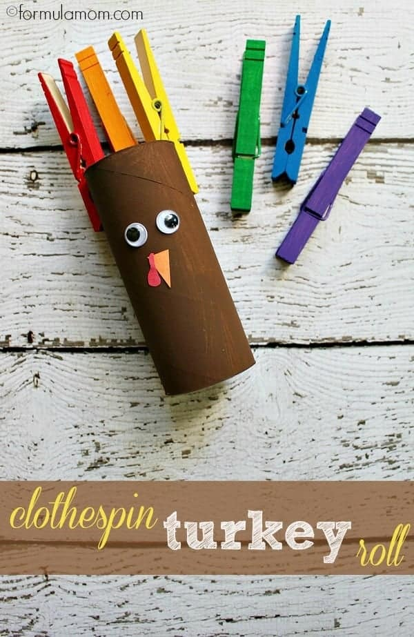 This clothespin turkey craft is not only adorable but it incoprorates fine motor practice with clothespins!