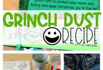Grinch Dust Recipe with FREE Printables