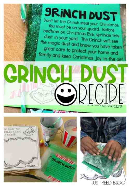 This fun recipe for Grinch Dust will captivate your students and make your Grinch Day celebration even more memorable!
