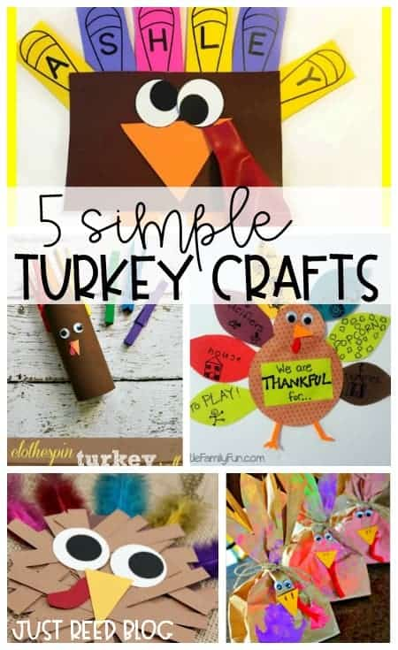 5 Fun Thanksgiving Turkey crafts that are perfect for preschool or little learners!