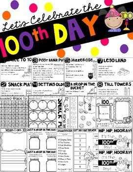 Make the 100th day of School an unforgettable day of learning and engagement as students participate in a variety of fun literacy, math, writing and STEM activities. This packet has everything you need for the 100th day of school!