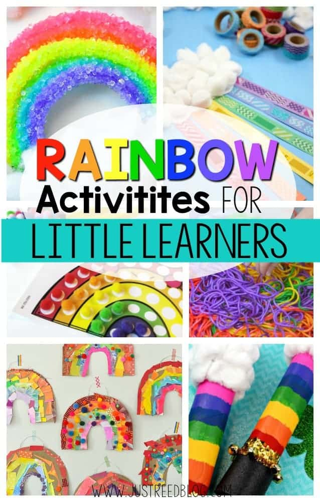 Rainbow activities for little learners.
