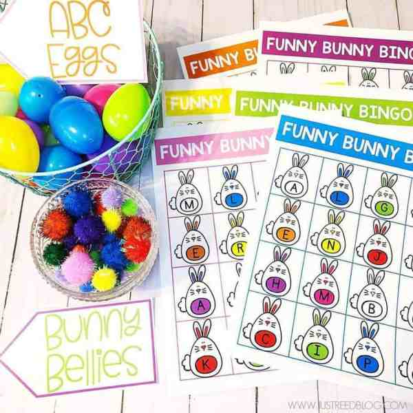 Letter recognition bingo game