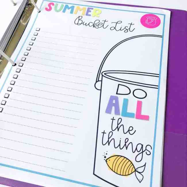 Here are my Top 5 Summer Organization Tips for Busy Families along with a printable binder to help you have the best summer ever!