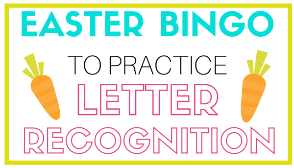 Letter recognition Easter bingo game