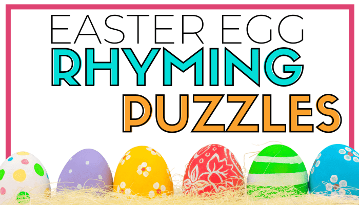 EASTER EGG RHYMING PUZZLES