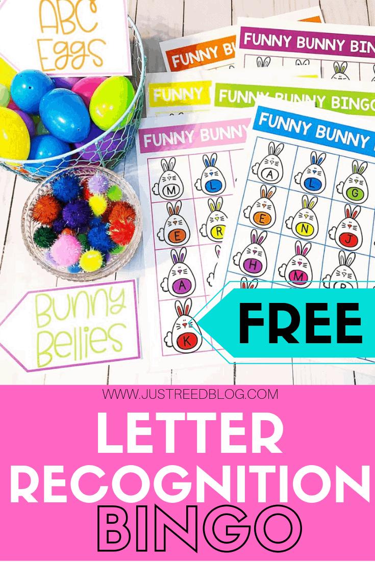 Easter bingo for letter recognition