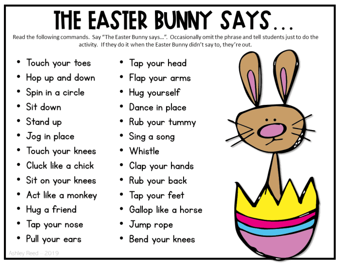 Easter brain breaks for the classroom