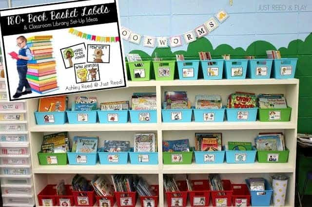 Classroom Library Ideas for labeling and storing books