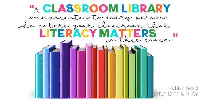 ideas for setting up your classroom library