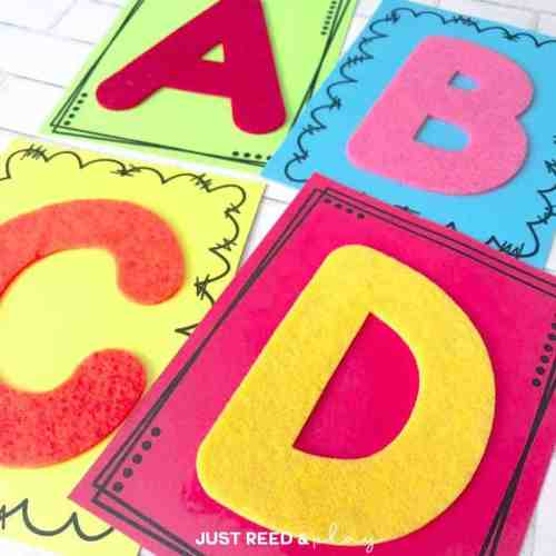 These DIY tactile letter cards are the perfect way to teach the alphabet.