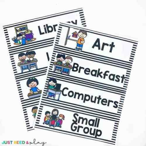 Preschool Visual Schedule Template 2