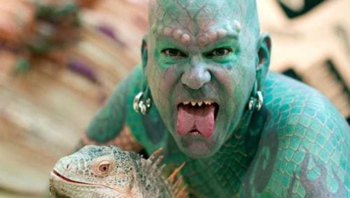 Image result for tattoo guy lizard