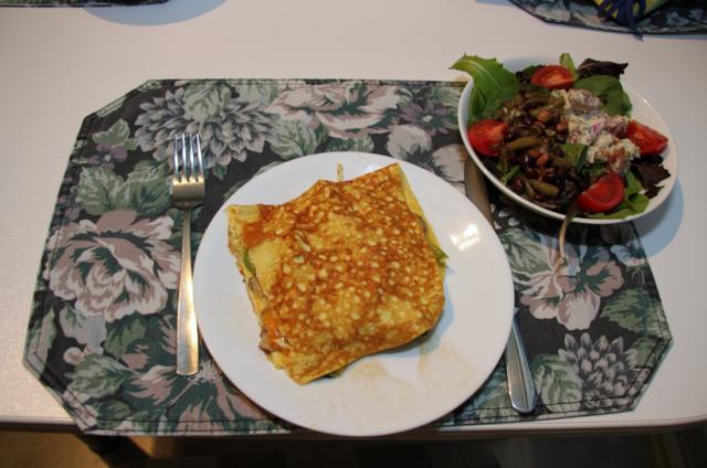 Three Cheese Asparagus and Mushroom Omelette
