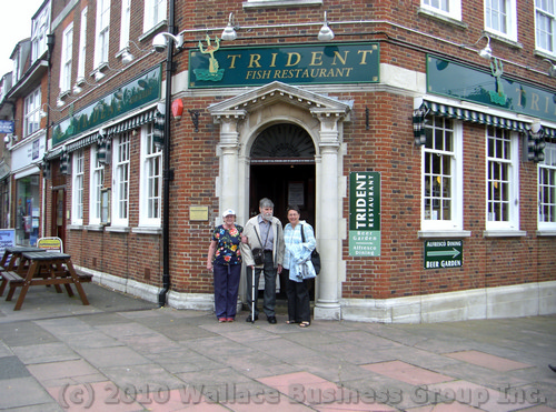 The Trident Fish & Chip restaurant on Albert parade, Eastbourne, Sussex