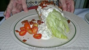 Iceberg lettuce wedge