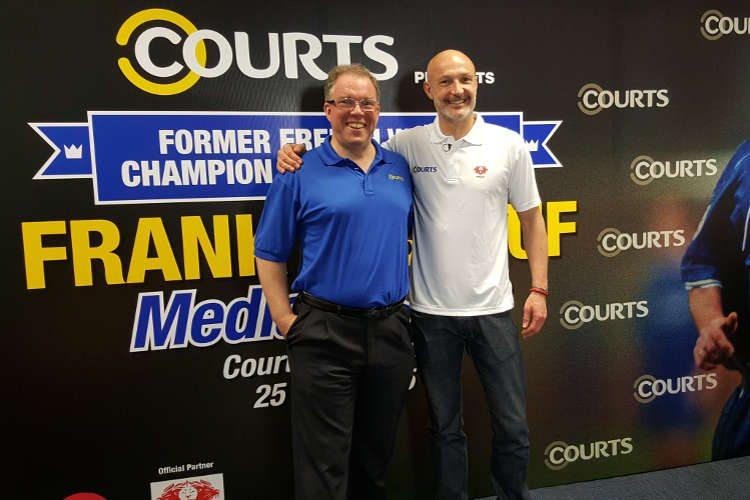 Terry O'Connor, CEO of Courts Singapore, and Frank Leboeuf 25 Apr 2015