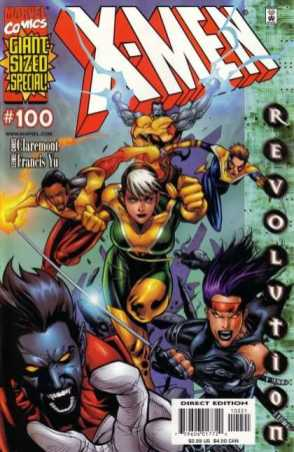 Leinil and Claremont work on X-Men #100