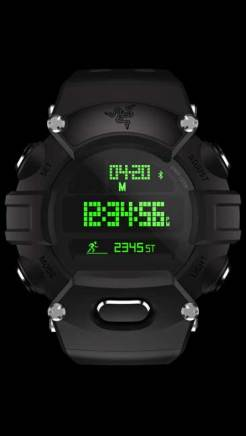 The Razer Nabu Watch Forged Edition has machined stainless steel buttons for added durability and a premium black finish.