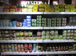 A diverse selection of canned food