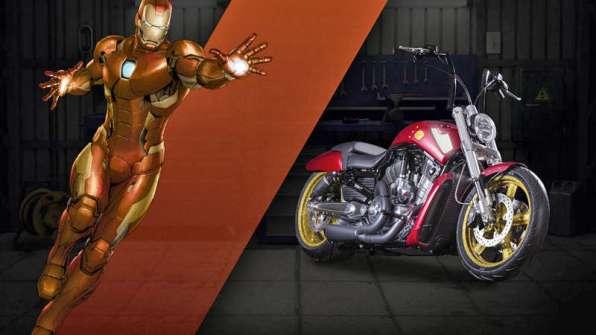 Iron Man - Harley-Davidson V-Rod Muscle, a.k.a. Boldness