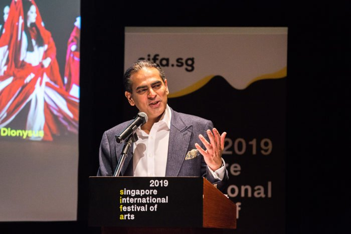 Gaurav Kripalani delivering an address at the media launch for SIFA 2019.
