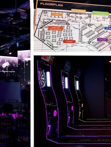 Header image. Arena, floorplan and darts.