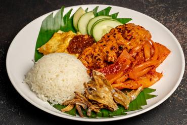 New Ubin Seafood's Nasi Lemak dish