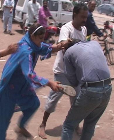 pakistani boy beaten by girl in public