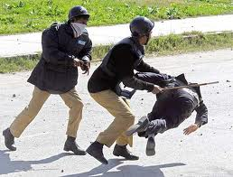 Pakistan Police in action