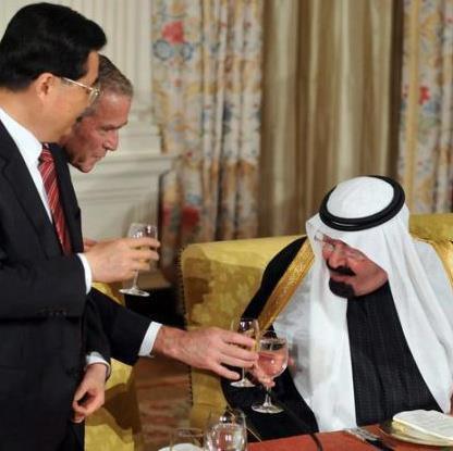 king abdullah drinking