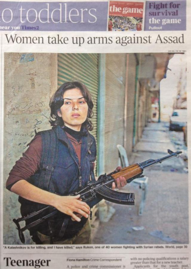 female fighters of Syria