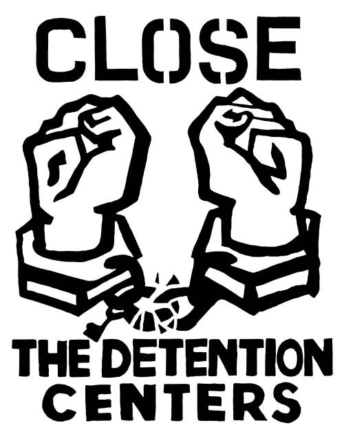 Protest Sign - Close the Detention Centers - Josh MacPhee