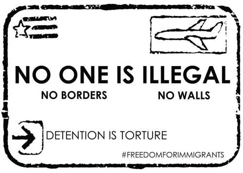 Protest Poster - No One is Illegal - Christeen Francis & Kevin Caplicki