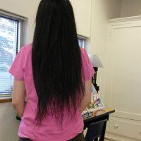 23 inches black virgin hair